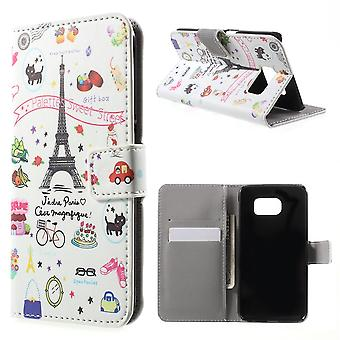 Cover the Eiffel Tower in PU skin for Samsung Galaxy S6