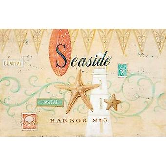 Seaside Harbor No 6 Poster Print by Angela Staehling