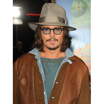 Johnny Depp At Arrivals For Rango Premiere Village Theatre In Westwood Los Angeles Ca February 14 2011 Photo By Dee CerconeEverett Collection Photo Print