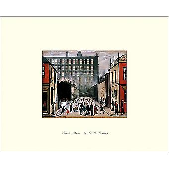 Wydrukuj plakat scena ulica (Pendlebury) przez LS Lowry (10 x 8)