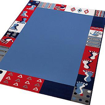 Weconhome Rundweg Hände & Füße Teppiche 0760-03 blau