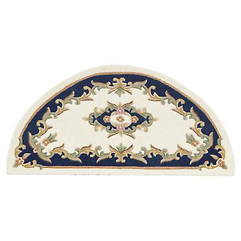 Royal Aubusson Half Moon Rugs In Cream Blue