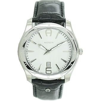 Aigner mens watch wristwatch leather Lazio A32139