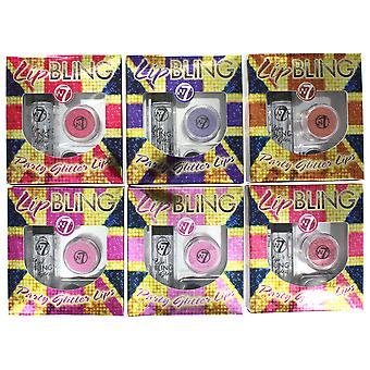 W7 Lip Bling With Roll On Lip Gloss, Glitter Pot & Applicator
