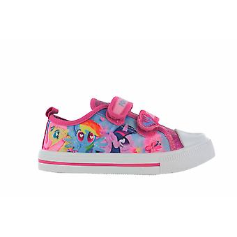 Girls MLP My Little Pony Pink Glitter Hook and Loop Trainers UK Sizes 6 - 12