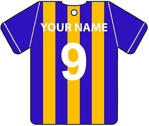 Personalised Shrewsbury Town Football Shirt Car Air Freshener