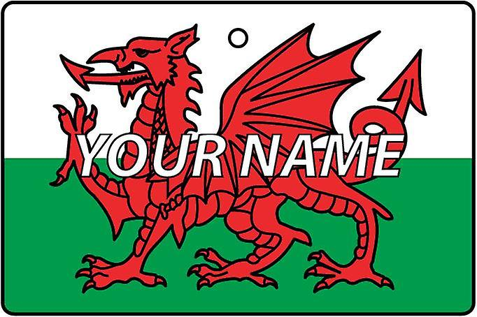 Wales Flag Personalised Car Air Freshener