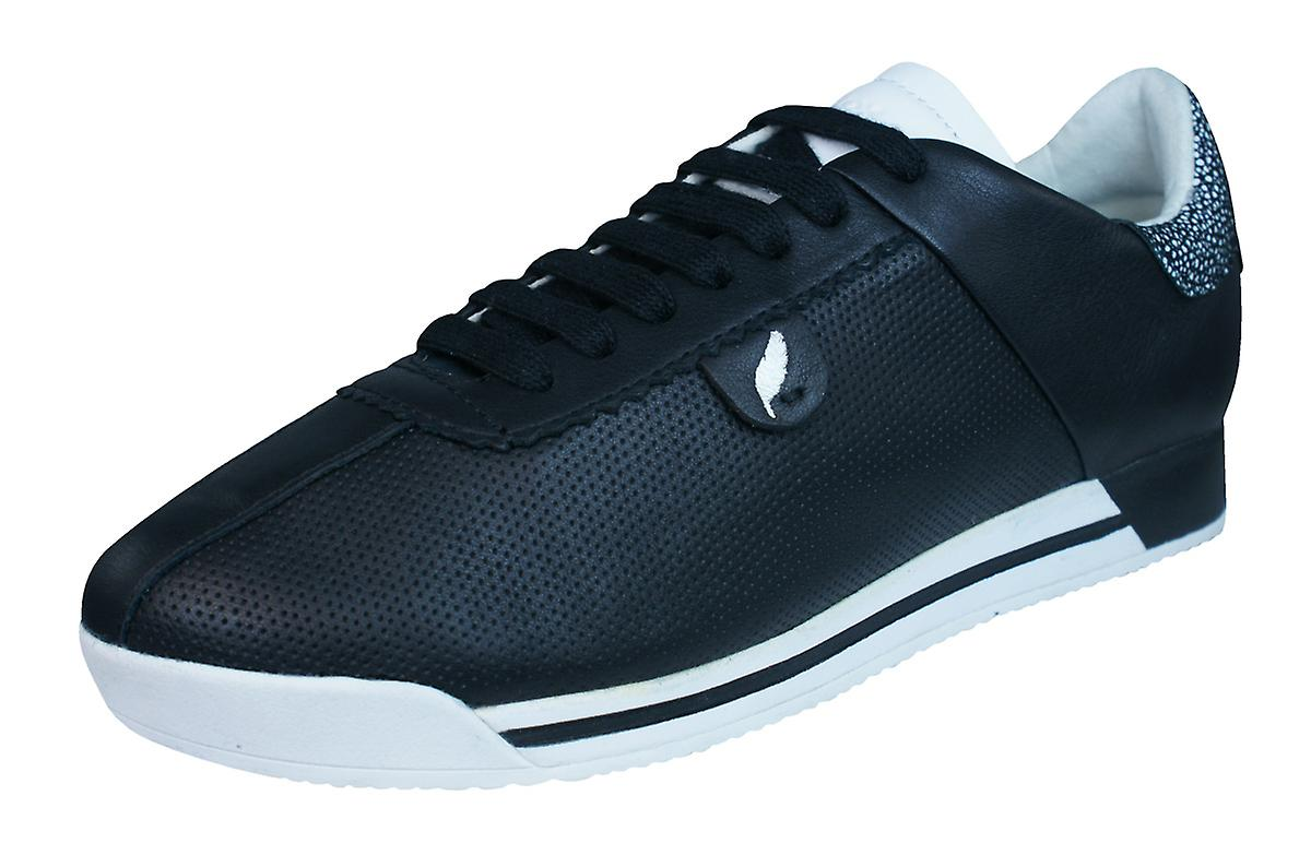 Geox D Chewa A Shoes Womens Leather Trainers / Shoes A - Black a6cc39