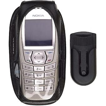 OEM Nokia 6600, 6620 custodia in pelle - nero