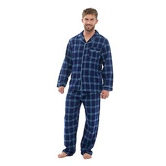 Mens katoen Yard geverfd controleren pyjama's Lounge Wear set