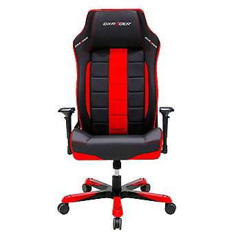 DX Racer DXRacer OH/BF120/NR Big and Tall Executive Chair Leather Style Vinyl(Black/Red)
