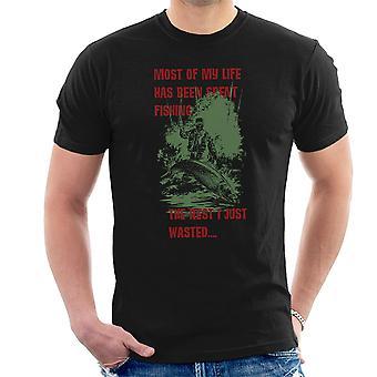 La mayor parte de mi vida ha estado pescando camiseta hombres