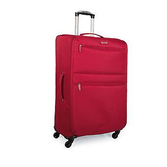 Uitbreidbaar trolley case koffer 60Cm middellange polyester Eva.  Semi-rigide en zeer licht. Telescopisch handvat, 2 handvatten, 4 wielen. Grootte van de Media. I52760