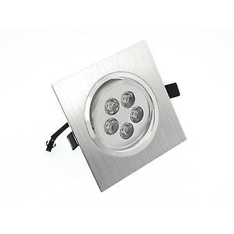 Ho LumoS alta qualità Epistar 5 watt argento quadrato in alluminio Spot LED Downlight