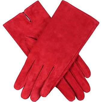 Dellen Emily Plain Wildleder Handschuhe - Red Berry