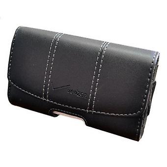 Verizon Universal Leather Side Pouch for Galaxy Legend, Convoy 3, Exalt, DROID Mini, Z10, iPhone 5, DROID RAZR M, 9930