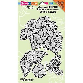 Stampendous Cling Stamps & Stencil 9