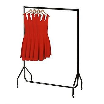 4ft Black Strong Clothes Rail W 122 H 155 D 50 cms