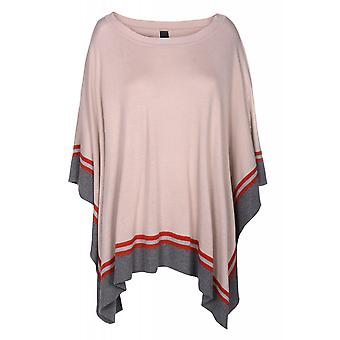 B.C.. best connections by heine tunic women's poncho sweater grey striped look