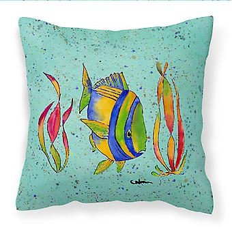 Carolines Treasures  8530PW1414 Tropical Fish Decorative   Canvas Fabric Pillow