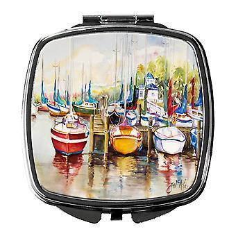 Carolines Treasures  JMK1235SCM Paradise Sailboats Compact Mirror