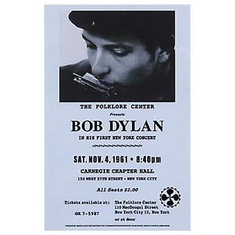 Bob Dylan Carnegie Hall 1961 Poster Print (15 x 23)