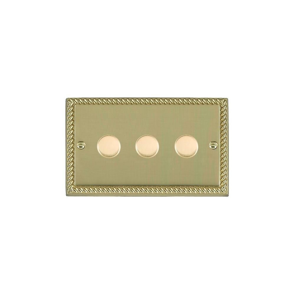 Hamilton Litestat Cheriton Georgian Polished Brass 3g 100W LED Dimmer PB