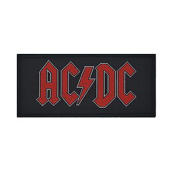 AC/DC Logo rosso tessuto Patch