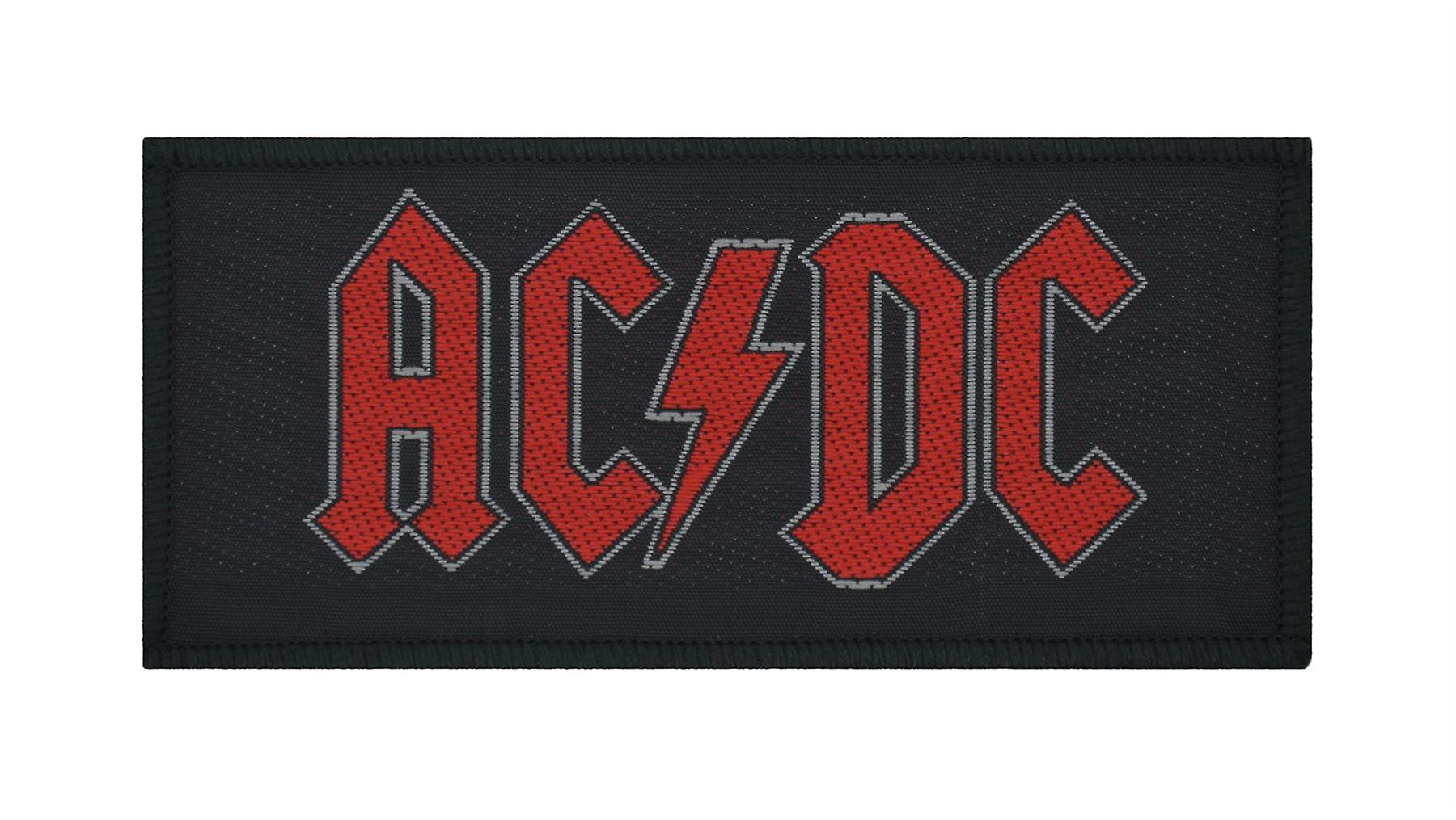 AC/DC Red Logo Woven Patch