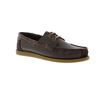 Superdry Superdry Mens Leather Deck Shoe - Dark Brown (Nubuck) Shoes