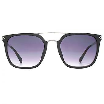 Guess Double Bridge Square Sunglasses In Matte Black