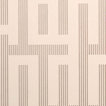 Graham & Brown Beige Wallpaper Roll - Feature Illusion Oyster Design - 57210