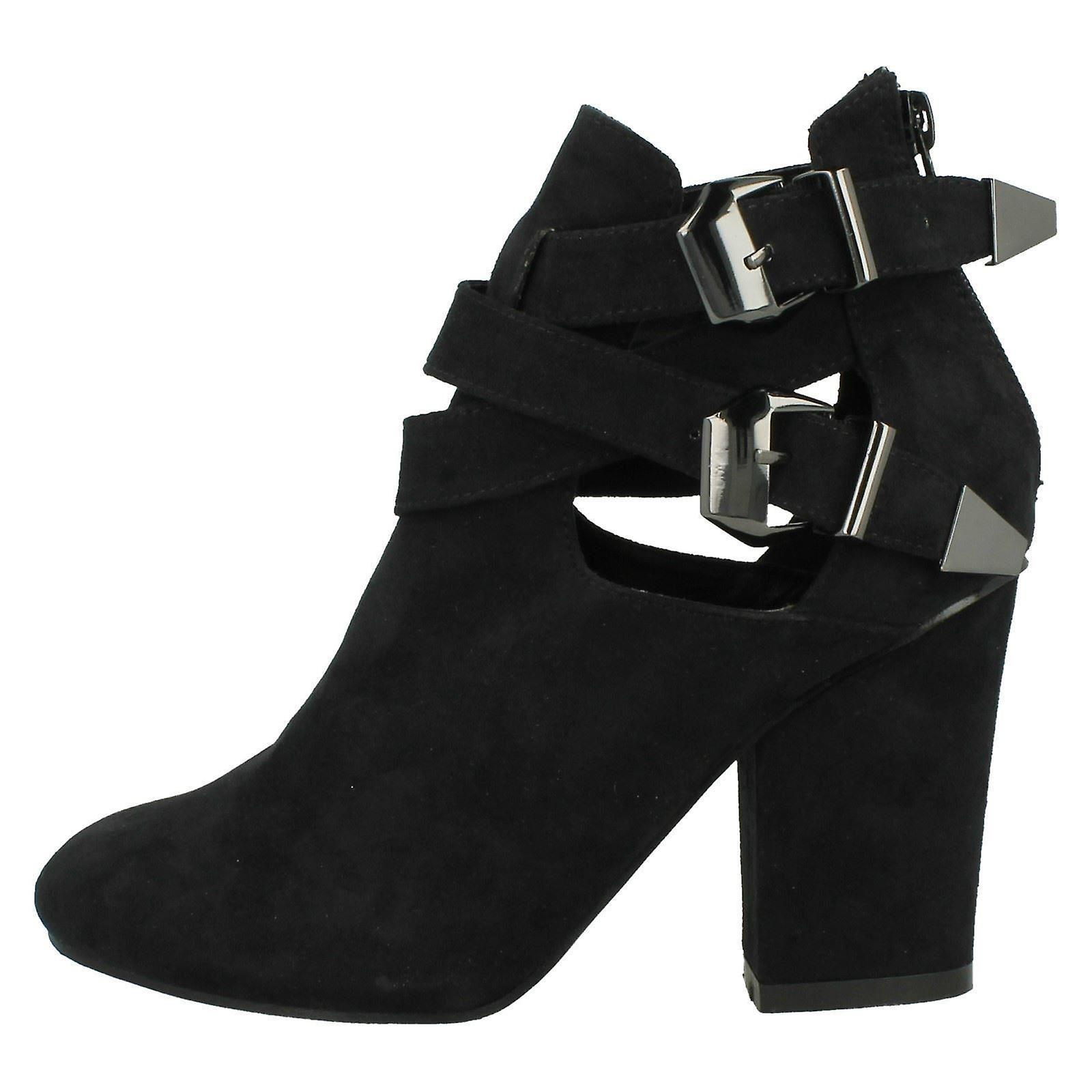 Ladies Heeled Ankle Boot Strappy Spot On 44qw7Hv8