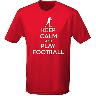 Keep Calm And Play Football Mens T-Shirt 10 Colours (S-3XL) by swagwear