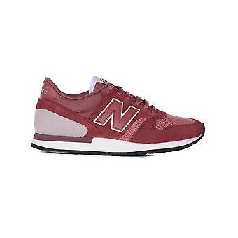 New balance men's NBM770SPG Bordeaux red suede of sneakers