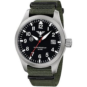 KHS horloges mens watch Airleader staal KHS. AIRS.NO