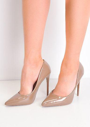 Brevetti a spillo Peep Toe tacchi alti Corte scarpe marrone