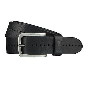 Cinturones de Lee cinturones hombre cuero correa negro 3975