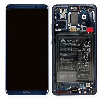 Huawei display LCD unit + 10 Pro Service Pack 02351RVH blue frame for mate