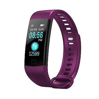 Y5 Multifunctional Task bracelet with color screen-Purple