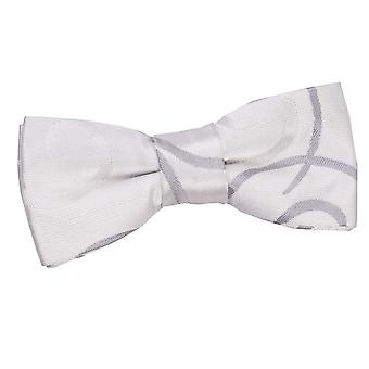 Silver Scroll Pre-Tied Bow Tie for Boys