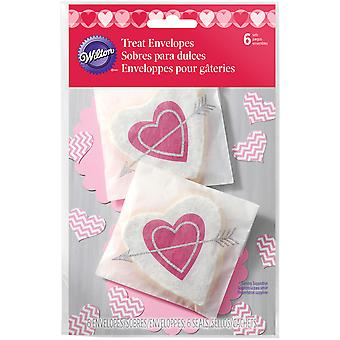 Treat Envelopes 6/Pkg-Heartfelt Confections