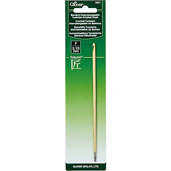 Clover Bamboo Interchangeable Tunisian Crochet Hook-Size F/3.75Mm (Takumi)