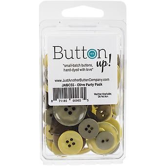 Button Up! Party Pack Buttons-Olive