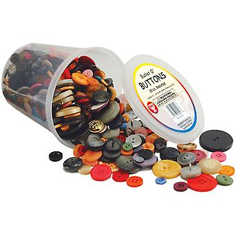 Bucket O' Buttons 16 Oz.-Assorted Colors & Sizes