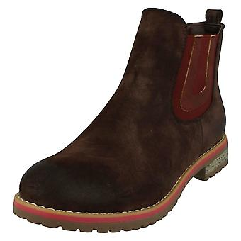 Ladies Down To Earth Flat Chelsea Ankle Boots F50566