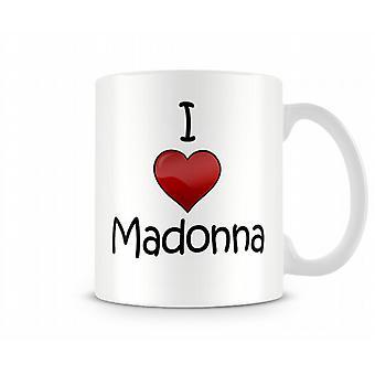 Madonna imprimé J'aime la tasse