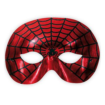 Spider fighter red Domino mask Spider Web pattern eye mask accessory