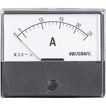Analogue rack-mount meter VOLTCRAFT AM-70X60/25 A 25 A Moving iron