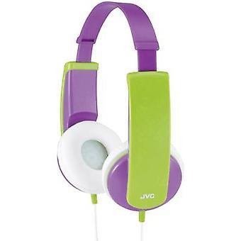 JVC HA-KD5-V-E Children Headphones On-ear Volume limiter, Light-weight headband Purple, Green